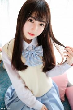 清秀的脸庞,带着娇羞的微笑 清纯妹子@丸子mayuki温柔可爱招人爱